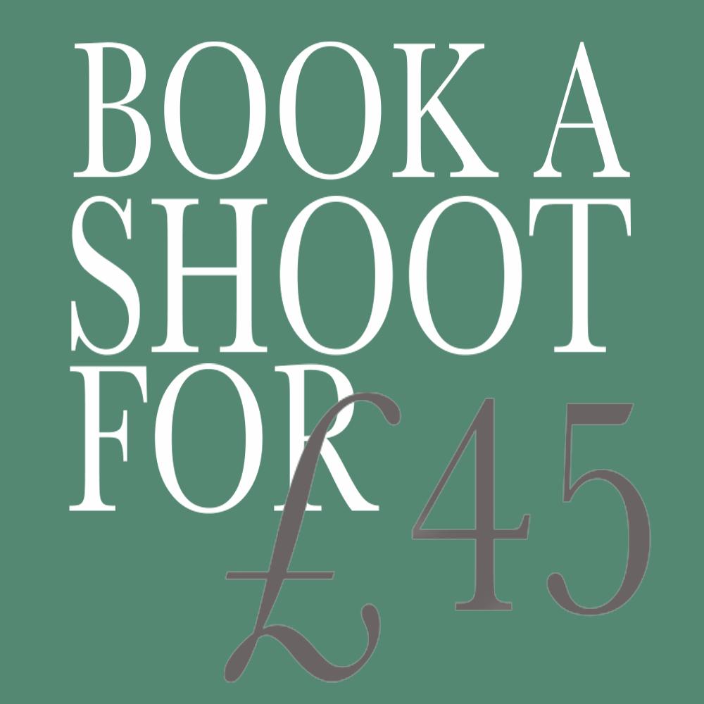 book a shoot for £45 button